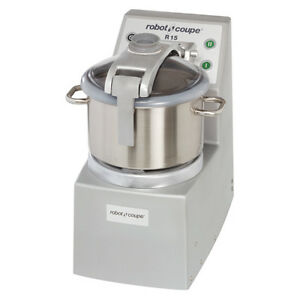 Robot Coupe R15 Food Processor Vertical Cuttermixer W 15qt Stainless Steel Bowl