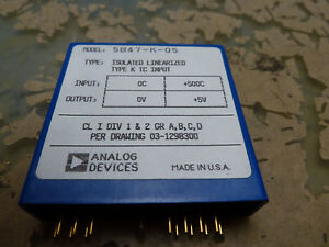Analog Devices 5b47 k 05 Type K Thermocouple Input Isolated Linearized 2 q 27