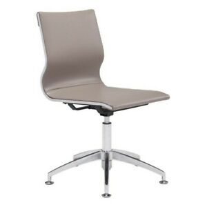 Zuo Glider Conference Chair In Taupe