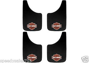 4pc 9 x15 Harley Davidson Easy Fit Mud Flaps Splash Guards New Free Shipping