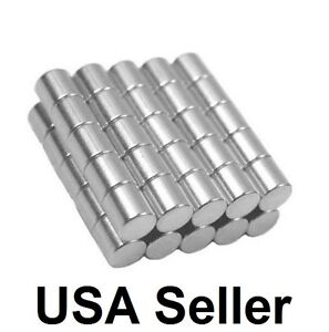 1 4 X 1 4 Inch Strong Neodymium Rare Earth Cylinder Magnets N48 Wholesale