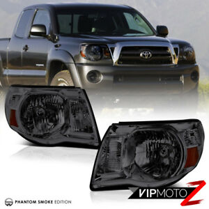 For 05 11 Toyota Tacoma Smoke Pair Lh Rh Headlights Headlamps Trd X Prerunner