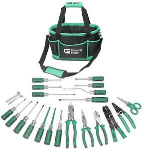 Electrician Electrical Tools Commercial Professional Tool Set 22 Pieces With Bag