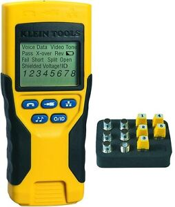 Networking Cable Tester Tool Test Kit Ethernet Coaxial Voice Data Phone Cat 5