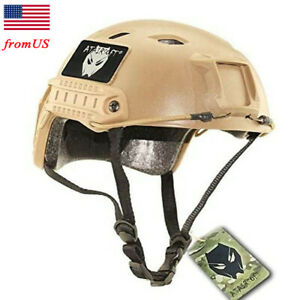 Airsoft Tactical Fast BJ Type Base Jump Helmet w Side Rail Bicycle Hiking DE