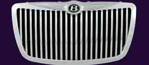 Chrysler 300 300c 2005 2008 Chrome Abs Vertical W b Emblem Replacement Grille