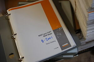 Case 60xt 70xt Mini Skid Steer Uni Loader Parts Manual Book Catalog Spare 2001