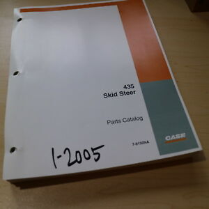 Case 435 Mini Skid Steer Uni Loader Parts Manual Book Catalog Spare List 2005