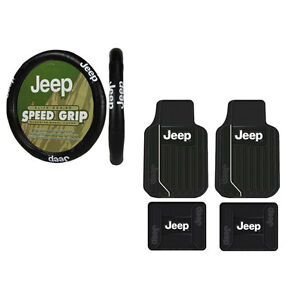 New Jeep Elite Style Car Truck Suv Rubber Floormats And Steering Wheel Cover