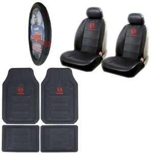 New 9pc Ram Head Logo Rubber Floormats Seat Covers And Steering Wheel Cover