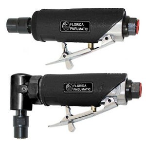 Florida Pneumatic 750k Air Die Grinder Kit 1 4 Collets 22 000 Rpm