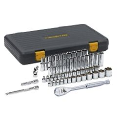 Gearwrench 80550p 57 Piece Standard And Deep Socket Set