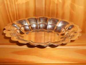 Silver On Copper Silverplate Candy Trinket Dish
