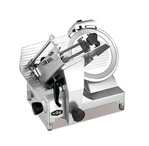 Kws Deluxe Commercial 450w Electric Meat Slicer 12 W Commercial Grade Carriage