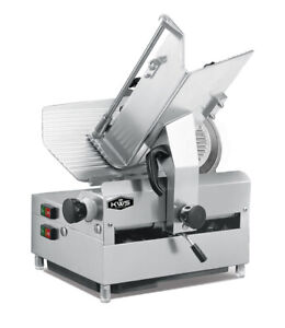 Kws Commercial 1050w Electric Automatic Meat Slicer 12 Frozen Meat Deli Slicer