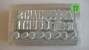 Kwikprint accountants Really Count Hot Foil Stamping Printing Cast Die