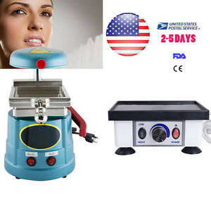 Dental Lab Vacuum Forming Molding Former With Square Vibrator Quartet Equipment