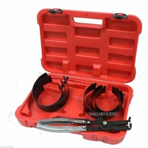 6 Cylinder Piston Pliers Ring Compressor Kit 2 7 8 To 4 3 8 W case