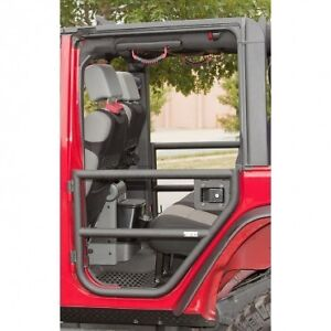 Rugged Ridge Rear Tube Doors Black 07 16 Jeep Wrangler Jk 4 Door 11509 11