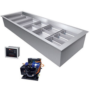 Hatco Cwbr 6 Six Pan Drop in Remote Refrigerated Well With Condensing Unit