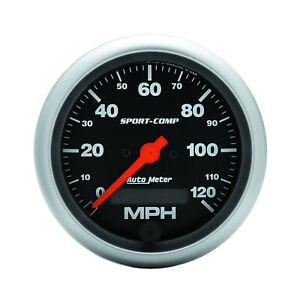 Auto Meter 3987 Speedometer Gauge 3 3 8 120mph Electric Program W