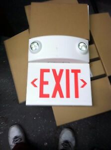 New Style Exit Sign With Emergency Lights Hubbell Lighting Dual lite Lturwdi