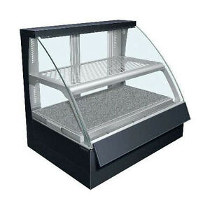 Hatco Fscd 2pd Countertop Convected Air Curved Display Case With Double Shelves