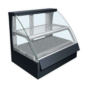 Hatco Fscdh 2pd Convected Air Curved Display Case With Humidity And 2 Shelves
