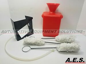 Tire Lube Bottle With Mounting Bracket And Swabs Red