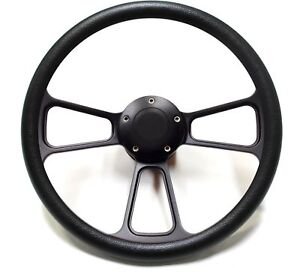 1965 1966 1967 1968 1969 Ford Mustang Black On Black Billet Steering Wheel Kit