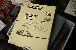Jlg 40ht Telescoping Boom Man Lift Parts Manual Book Catalog Spare 1980 1989