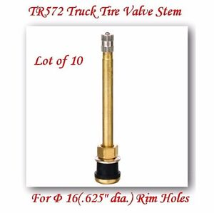 10 Kits Tr572 Truck Tire Valve Stem Wheels 22 5 24 5 For Rim 625 Holes L 4