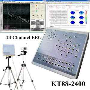 24 Channel Digital Brain Electric Acticity Mapping Eeg mapping System Kt88 2400