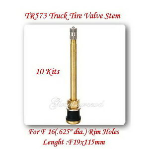 10 Tr573 Truck Tire Valve Stem For Wheels 22 5 24 5 For Rim 625 Holes L 4 5