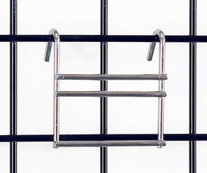 Slatwall Slat Adapter Grid Gridwall Panel Retail Display Fixture Chrome New