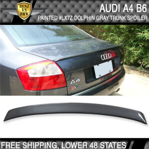 02 05 Audi A4 B6 4dr Abt Style lx7z Dolphin Gray Metallic Painted Trunk Spoiler