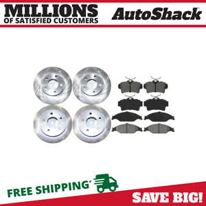 Front Rear Rotors And Ceramic Pads For 1999 2001 2002 2003 2004 Ford Mustang