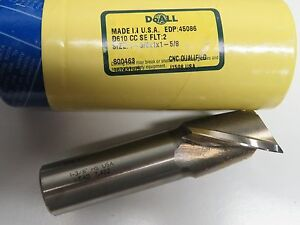 Doall Greenfield 1 3 8 X 1 Shank End Mill Slot Drill Endmill 2 Flutes Usa 45086