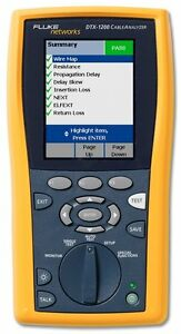 Fluke Dtx 1200 350 Mhz Dtx Cable Analyzer