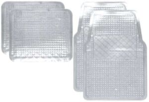4pc Clear Car Floor Mats Set Front And Rear Rubber Truck Van Suv Liners Car Lot