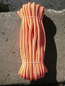 New England 16 Strand Hi vee Arborist Rope Tree Climbing Line 1 2 X 75 Orange