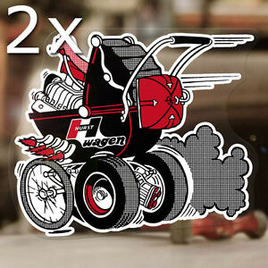 2x Pieces Hurst Baby Buggy Sticker Decal Old School Drag Racing Hot Rod 5