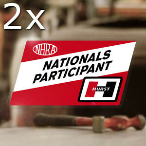 2x Pieces Hurst Nhra Nationals Sticker Decal Old School Drag Racing Hot Rod 4