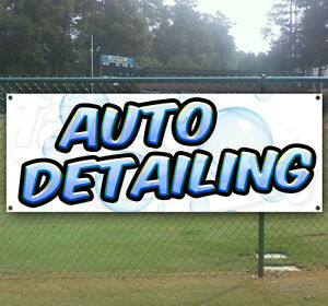 Auto Detailing Advertising Vinyl Banner Flag Sign Many Sizes Available Usa