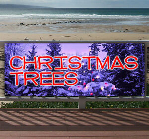 Christmas Trees Advertising Vinyl Banner Flag Sign Many Sizes Available Usa