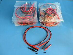 Mueller Bu 26101 0 2 Plug on Test Probe Tips 1000v 20a W Cables lot Of 20 Sets