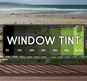 Window Tint Advertising Vinyl Banner Flag Sign Many Sizes Available Usa