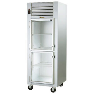 Traulsen G11001 Reach in Refrigerator With Hinged Left Half Height Glass Doors