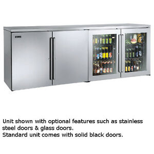 Perlick Bbrlp96 96 Low Profile Four section Refrigerated Back Bar Cabinet