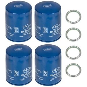New 2011 2018 Subaru Pack 4 Engine Oil Filter And Gasket Impreza Oem 15208aa15a